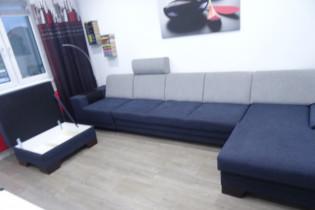 Dlkšia sedacia suprava rozkladacia +otvarací otoman+taburetka